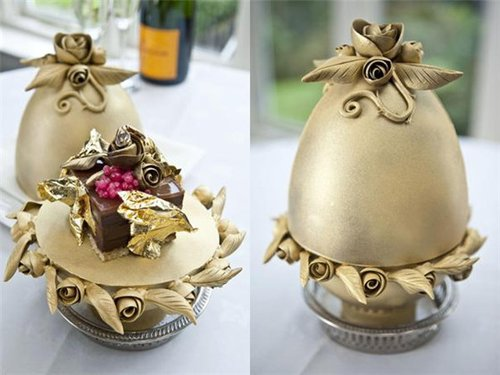 世界最贵甜点售价2万英镑 用2克拉钻石装饰