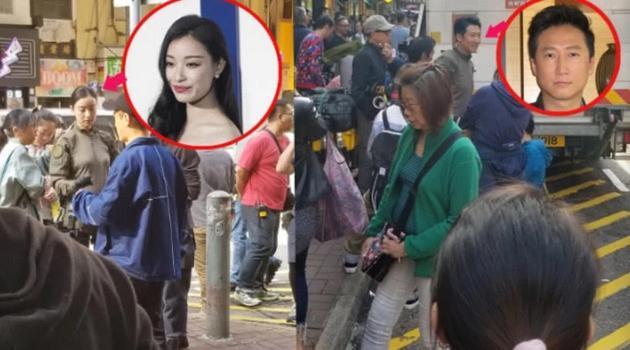 倪妮现身香港街头拍戏因太美被围观市民求拍照