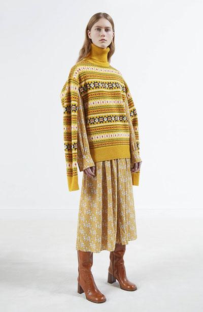 棕色冬靴子不难搭 发色才是最难选