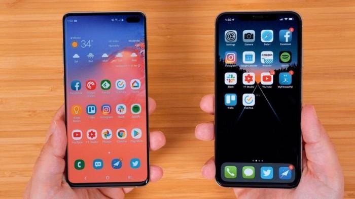 跑分对比:GalaxyS10+vs.iPhoneXSMax